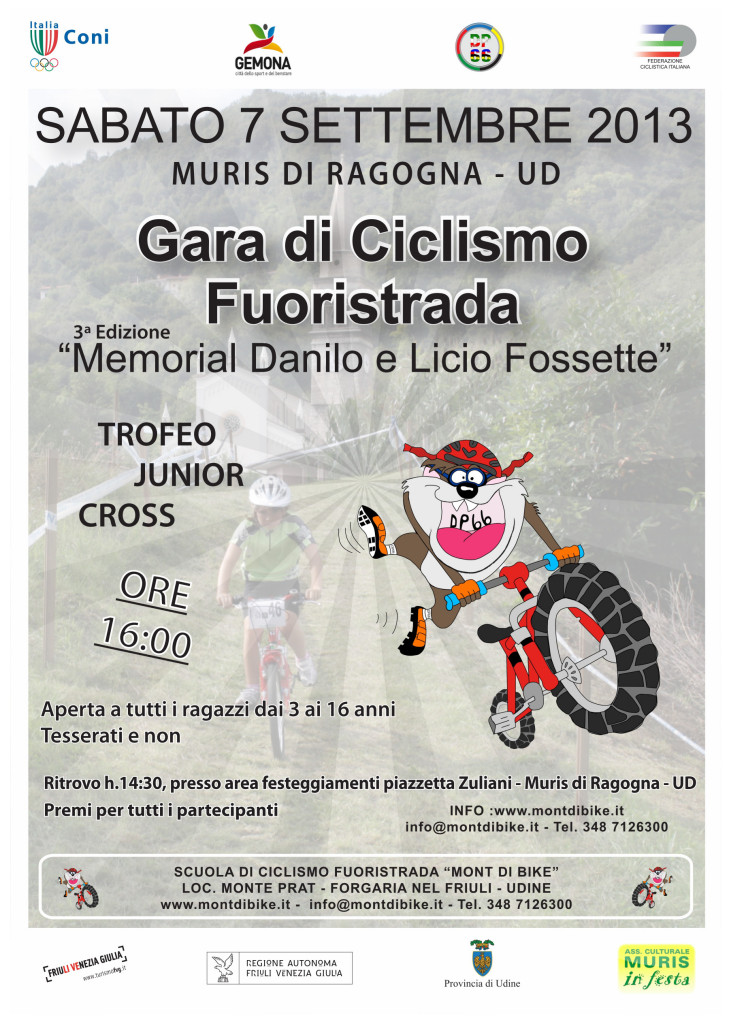 TROFEO JUNIOR CROSS – 7 SETTEMBRE a MURIS DI RAGOGNA