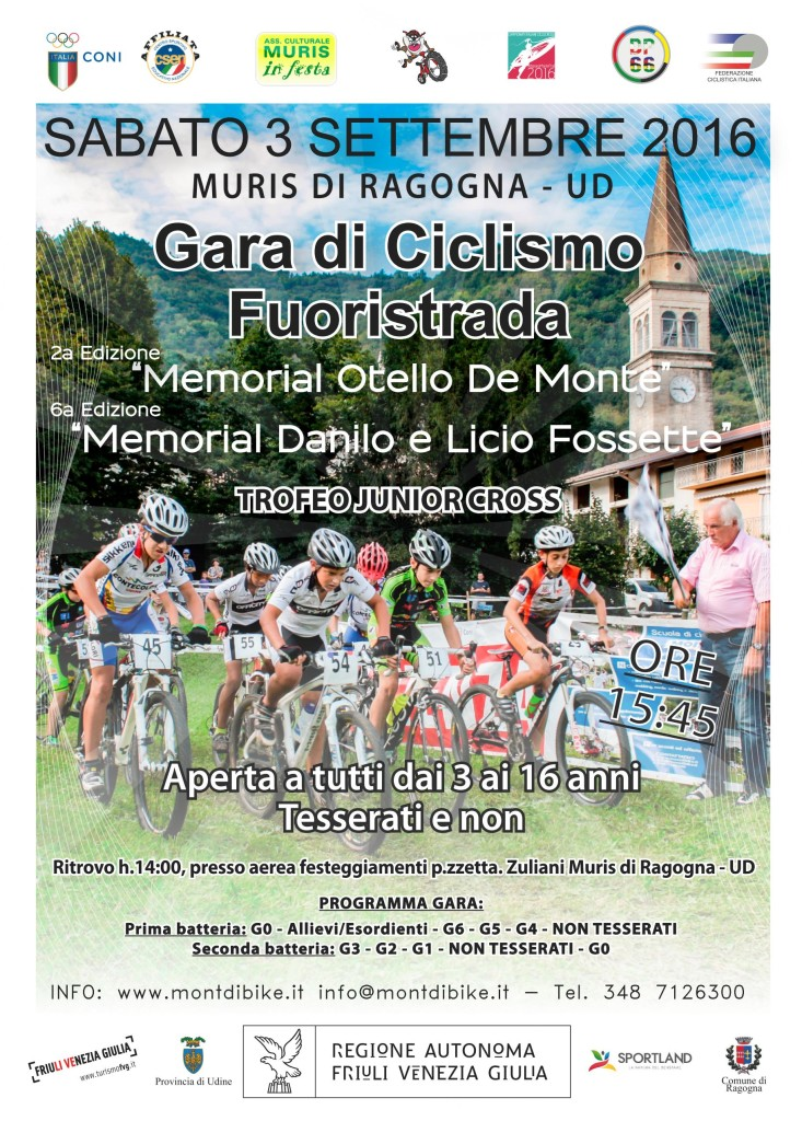 TROFEO JUNIOR CROSS 6° MEMORIAL DANILO E LICIO FOSSETTE – 2° MEMORIAL OTELLO DE MONTE