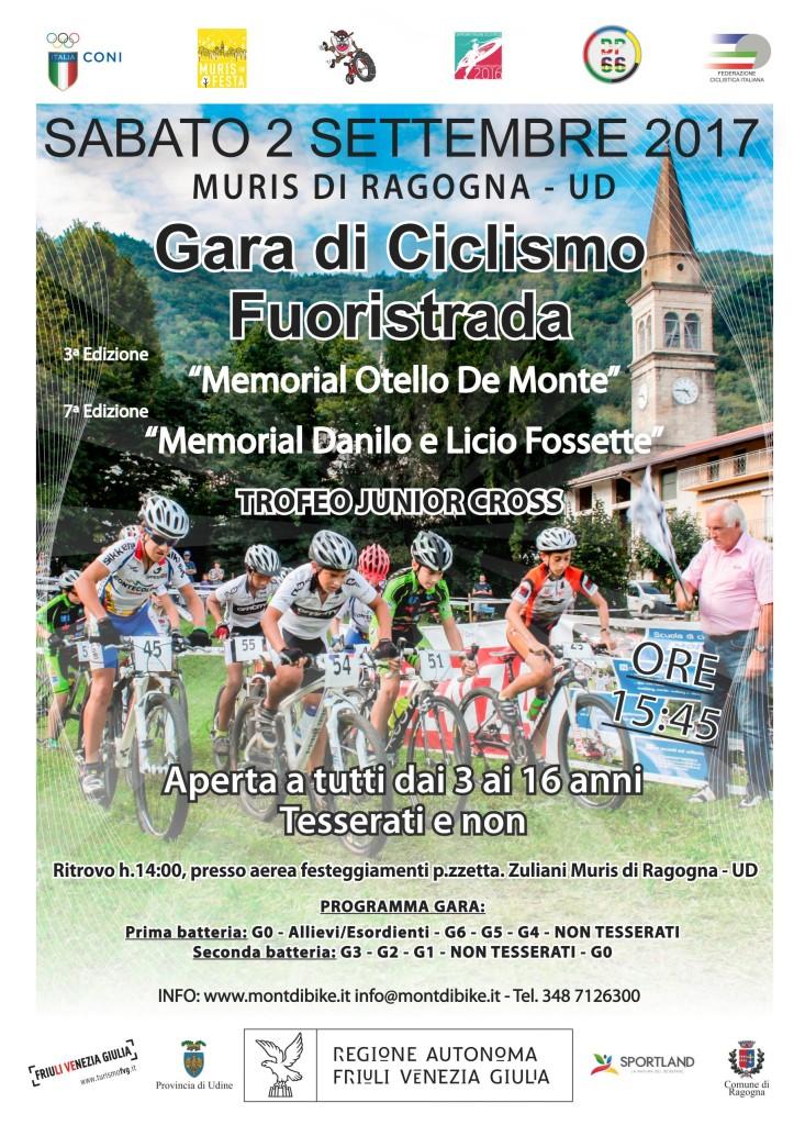 """TROFEO JUNIOR CROSS 3° """"Memorial Danilo e Licio Fossette"""" e 3° """"Memorial Otello De Monte"""""""